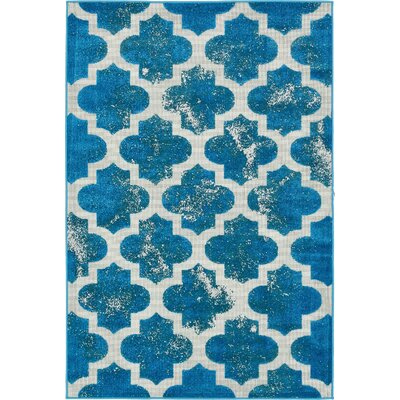 Sarno Turquoise Indoor/Outdoor Area Rug Rug Size: Rectangle 9 x 12