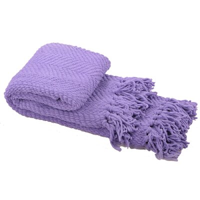 Sidon Tweed Knitted Throw Blanket Color: Paisley Purple
