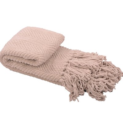 Nader Tweed Knitted Throw Blanket Color: Oatmeal