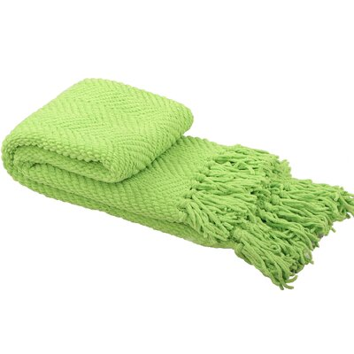 Nader Tweed Knitted Throw Blanket Color: Green Flash