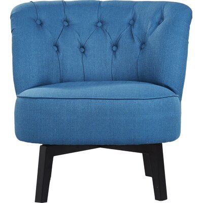 Santillan Swivel Slipper Chair Upholstery: Blue