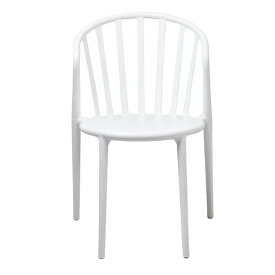 Santillanes Stackable Barrel Side Chair in White
