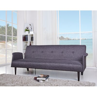 Charmayne Sleeper Sofa Upholstery: Dark Gray