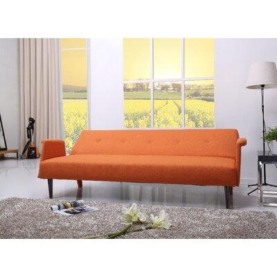 Charmayne Sleeper Sofa Upholstery: Orange