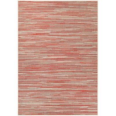Dobbs Alassio Sand/Maroon Indoor/Outdoor Area Rug Rug Size: 5'3