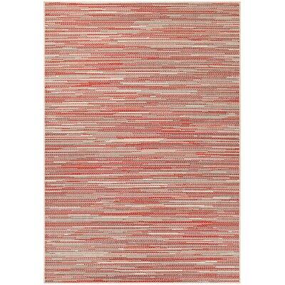 Dobbs Alassio Sand/Maroon Indoor/Outdoor Area Rug Rug Size: 3'9