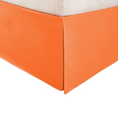 Weiss Panel Bed Skirt Size: King, Color: Orange