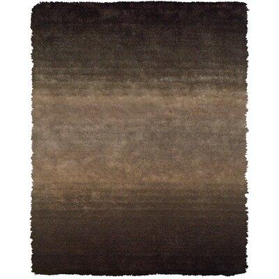 Sapienza Dark Gray/Brown Area Rug Rug Size: 76 x 96