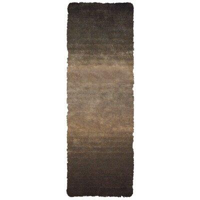 Sapienza Dark Gray/Brown Area Rug Rug Size: Runner 26 x 6