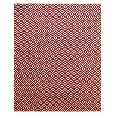 Sarratt Red Area Rug Rug Size: 8 x 11