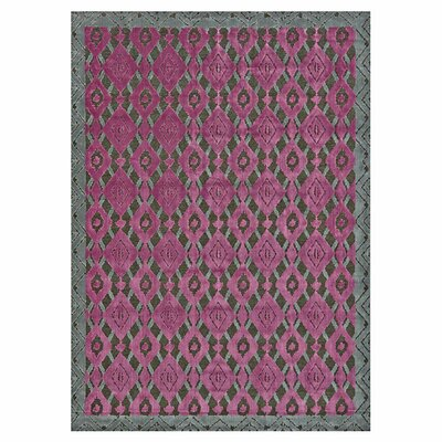 Saum Pink Area Rug Rug Size: 76 x 106