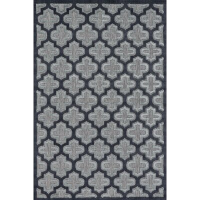 Saul Black/Charcoal Indoor/Outdoor Area Rug Rug Size: Rectangle 76 x 106