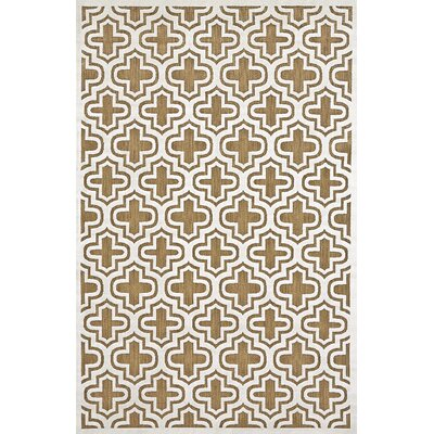 Saulsberry Tan/Ivory Indoor/Outdoor Area Rug Rug Size: Rectangle 76 x 106