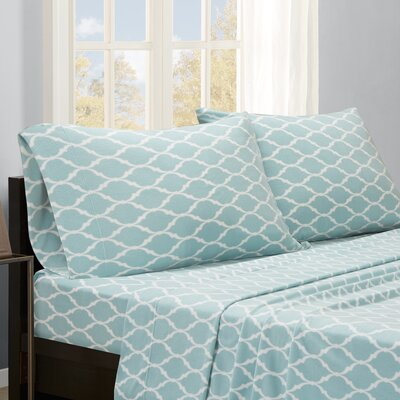 Saturn Sheet Set Size: Queen, Color: Blue Ogee