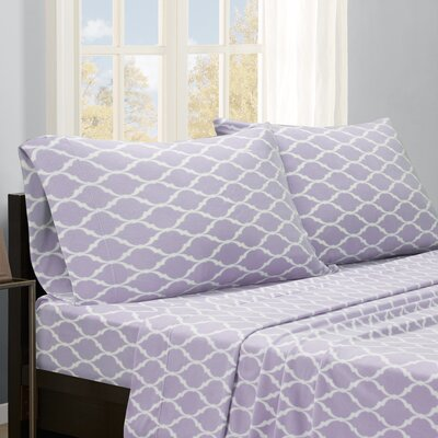 Saturn Sheet Set Size: Queen, Color: Purple Ogee