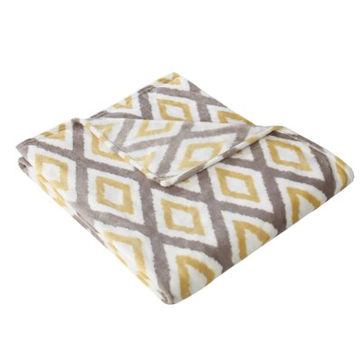Goslin Ikat Diamond Throw Color: Yellow