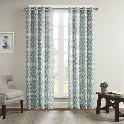 Diamond Grommet Curtain Panel