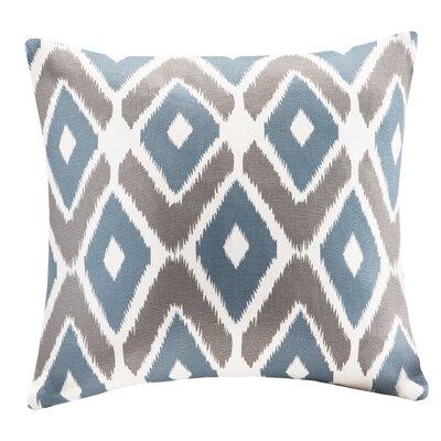 Boyer Diamond Printed Square Throw Pillow Color: Navy