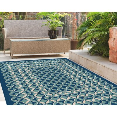 Gorton Navy/Aqua Indoor/Outdoor Area Rug Rug Size: Rectangle 710 x 103