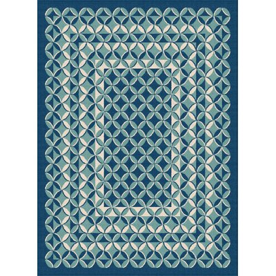 Gorton Navy Indoor / Outdoor Area Rug Rug Size: 53 x 73