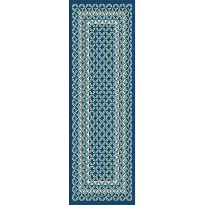 Gorton Navy/Aqua Indoor/Outdoor Area Rug Rug Size: Runner 27 x 73
