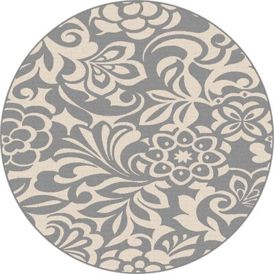 Gorton Gray Indoor/Outdoor Area Rug Rug Size: Round 710