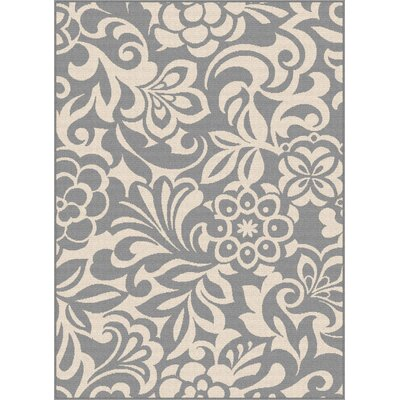 Barnsley Gray/Cream Indoor/Outdoor Area Rug Rug Size: Rectangle 53 x 73