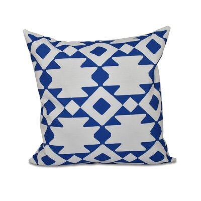 Carnell Throw Pillow Size: 16 H x 16 W, Color: Dazzling Blue