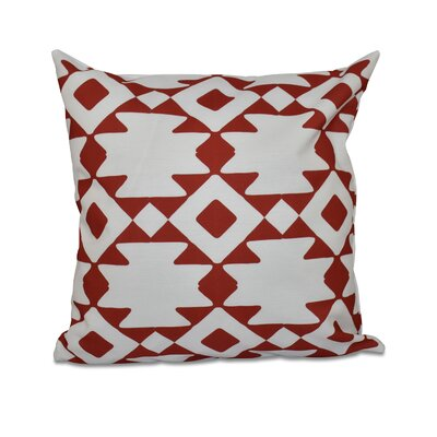 Carnell Throw Pillow Size: 18 H x 18 W, Color: Red