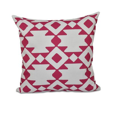 Carnell Throw Pillow Size: 18 H x 18 W, Color: Fuchsia