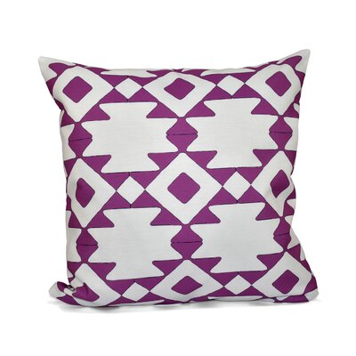 Carnell Throw Pillow Size: 16 H x 16 W, Color: Radiant Orchid