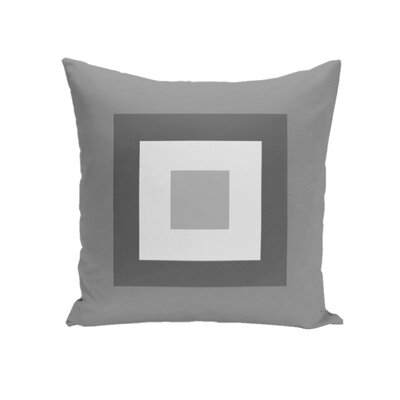 Carnell Throw Pillow Size: 16 H x 16 W, Color: Coral/Bahama