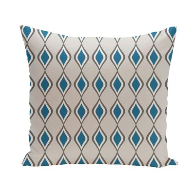 Carnell Throw Pillow Size: 16 H x 16 W, Color: Paloma/Steel/Peacock