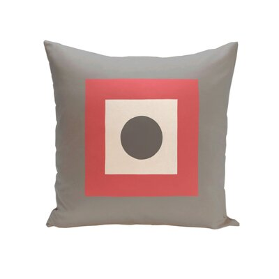 Carnell Throw Pillow Color: Coral / Steel, Size: 18 H x 18 W