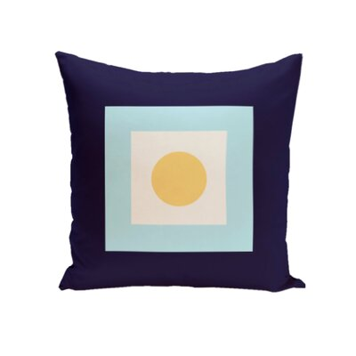 Carnell Throw Pillow Size: 16 H x 16 W, Color: Navy / Lemon