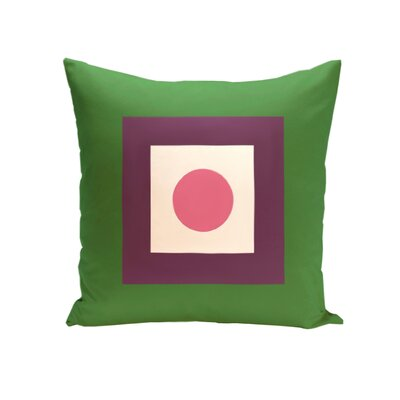 Carnell Throw Pillow Color: Leaf / Petal, Size: 18 H x 18 W