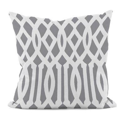 Carnell Decorative Synthetic Throw Pillow Size: 16 H x 16 W, Color: Classic Gray
