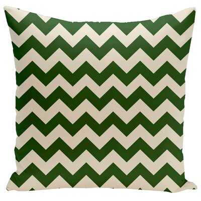 Bunnell Geometric Throw Pillow Size: 18 H x 18 W, Color: Evergreen