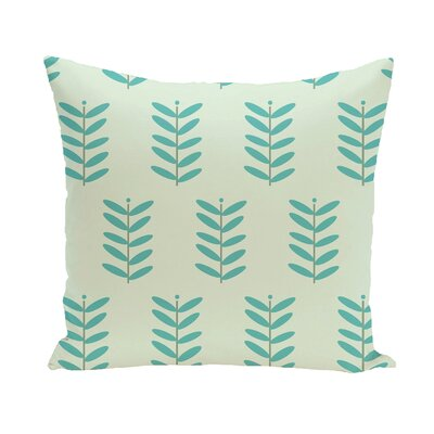Sharrow Throw Pillow Size: 16 H x 16 W, Color: Green / Aqua