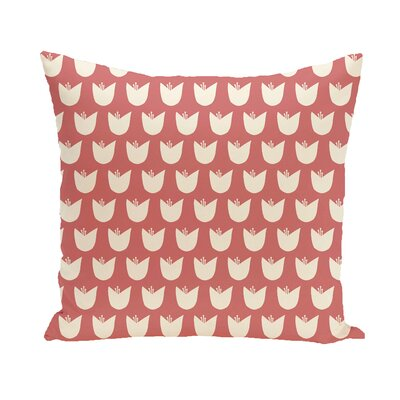 Sharrow Throw Pillow Size: 18 H x 18 W, Color: Coral / Taupe