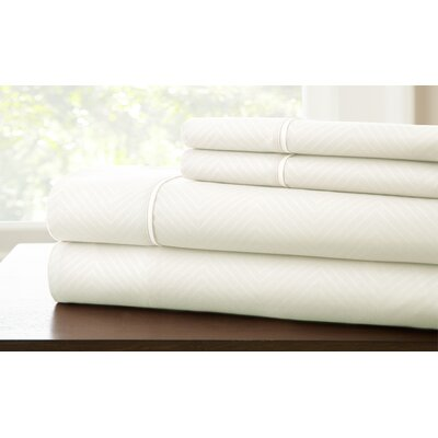 Savard Sheet Set Color: White, Size: Twin