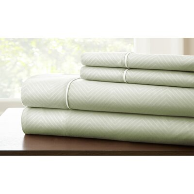 Savard Sheet Set Color: Seafoam, Size: Queen