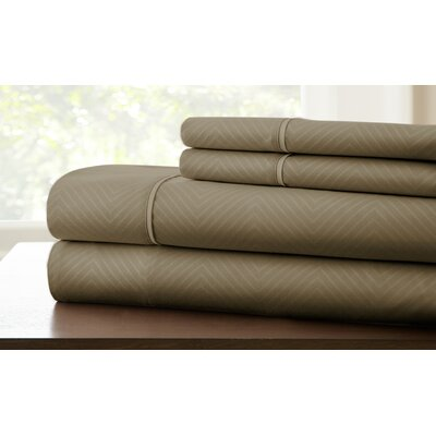 Savard Sheet Set Color: Mocha, Size: Queen
