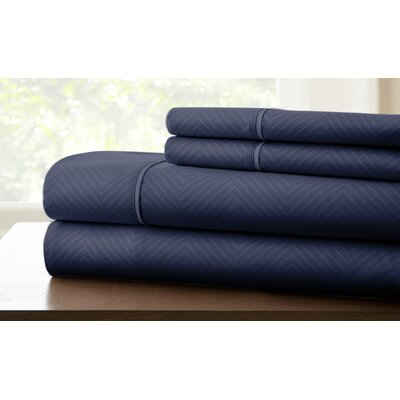 Savard Sheet Set Color: Indigo, Size: Twin