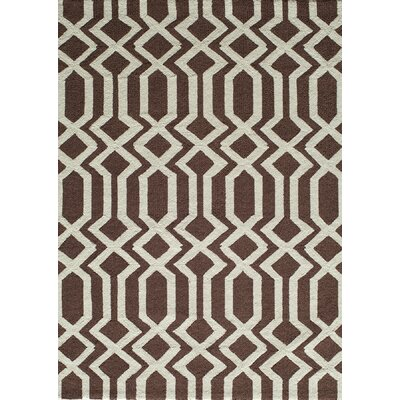 Trent Hand-Hooked Brown Area Rug Rug Size: Rectangle 5 x 7