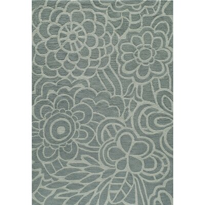 Rhea Hand-Tufted�Blue Area Rug Rug Size: Rectangle 79 x 99