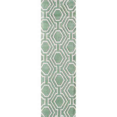 Wills Hand-Tufted Sage Area Rug Rug Size: Runner 23 x 8