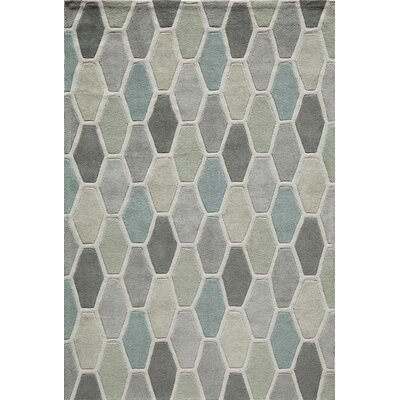 Wills Hand-Tufted�Beige/Blue Area Rug Rug Size: Rectangle 36 x 56