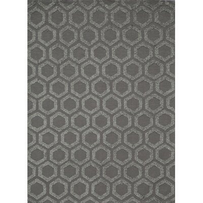 Richie Hand-Tufted�Charcoal Area Rug Rug Size: 5 x 7