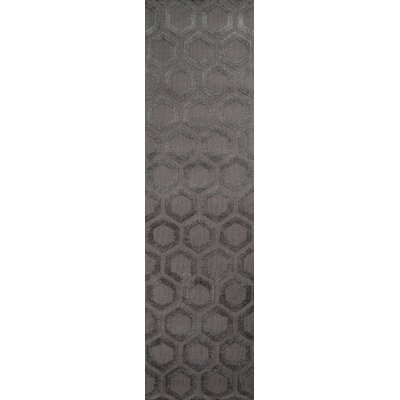 Richie Hand-Tufted�Charcoal Area Rug Rug Size: Runner 23 x 8